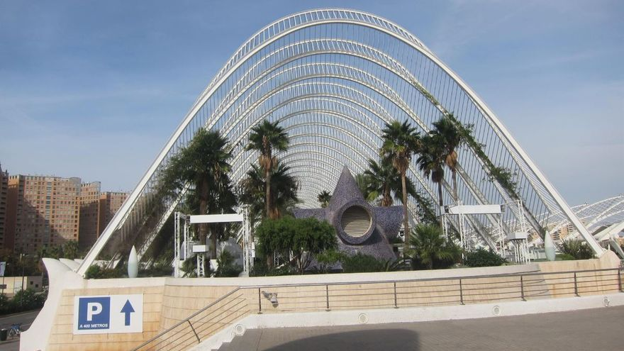 El Umbracle de València, recinto en el que está ubicada la discoteca.