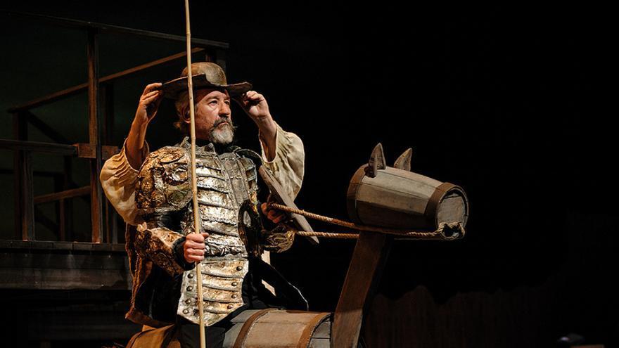 José Sacristán, en la obra 'Yo soy Don Quijote de La Mancha' en el Festival de Teatro Clásico de Almagro. Foto: Flickr del Festival, CC.