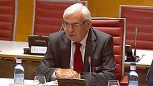 El exsecretario de Finanzas del PSPV José María Cataluña en el Senado