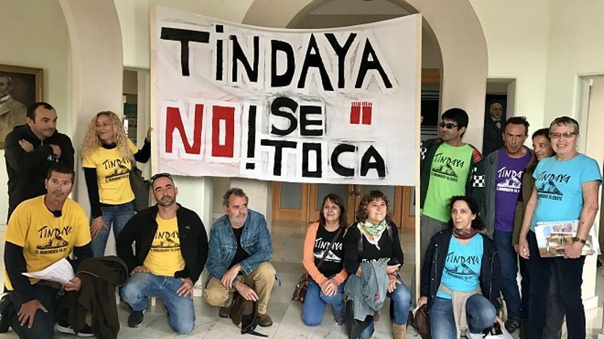 Las grandes organizaciones ambientales de España apoyan que 'Tindaya ya es un monumento'.