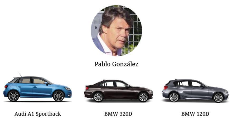 Los coches de Pablo González.