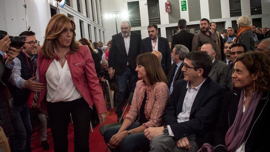 Susana Díaz y Patxi López, en el homenaje a Chacón