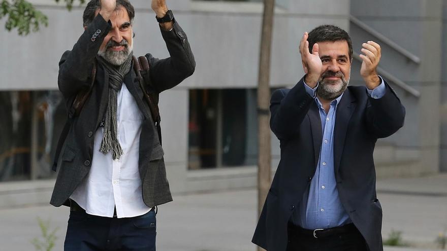 Sánchez (ANC) y Cuixart (Òmnium)