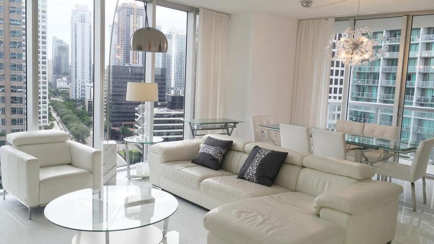 La vivienda de lujo de Tauroni y su esposa situada en el número 485 de la avenida Brickell de Miami