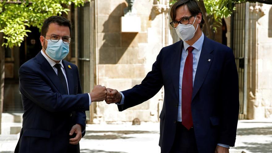 """Aragonès e Illa mantendrán contacto """"regular"""" para hablar sobre la covid"""
