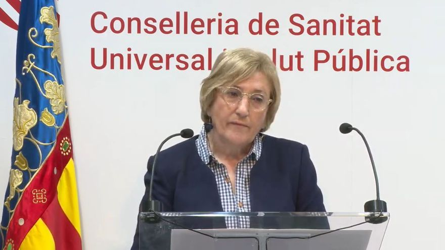 La consellera de Sanidad, Ana Barceló, en la rueda de prensa de este lunes.