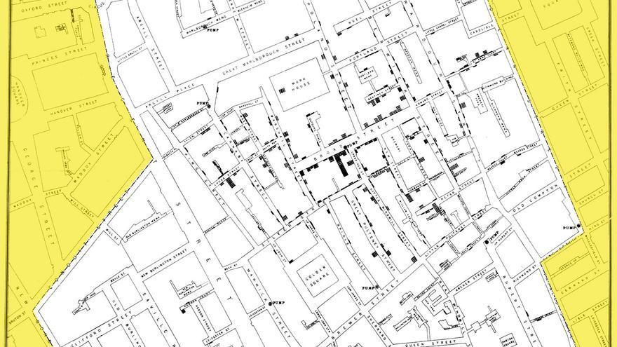 El mapa del cólera de John Snow (1854)