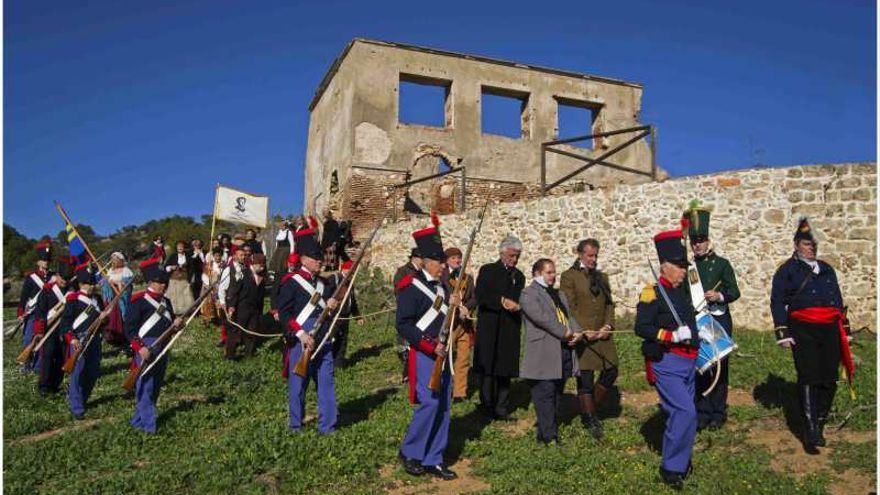Recreación de la captura de Torrijos y sus compañeros, por la Asociación Torrijos 1831