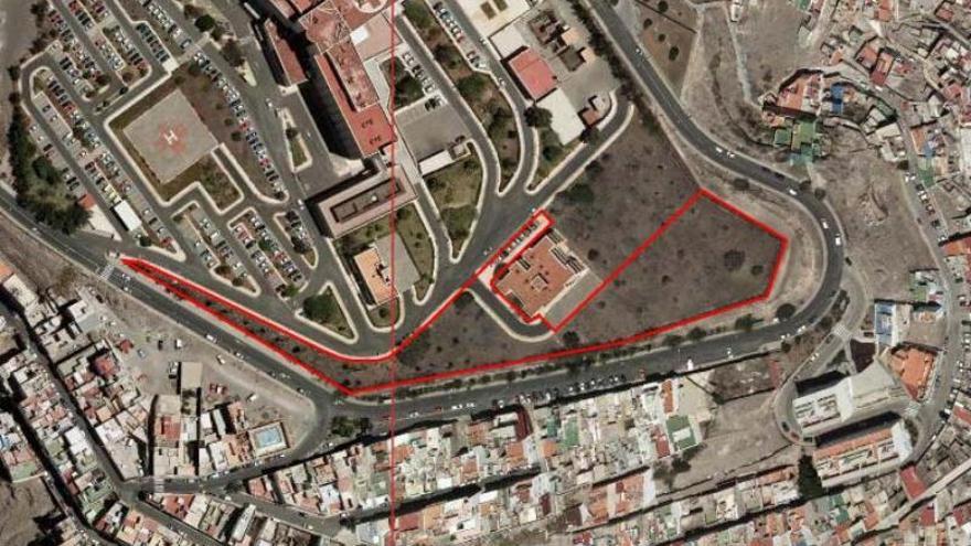 Parcelas que recupera el Ayuntamiento de Las Palmas de Gran Canaria en el antiguo Hospital Militar.