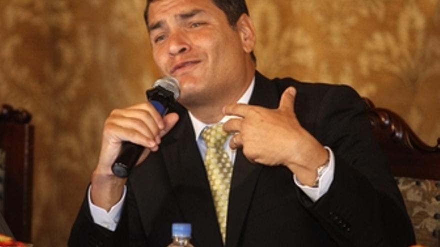 El presidente de Ecuador, Rafael Correa, habla sobre el golpe de Estado