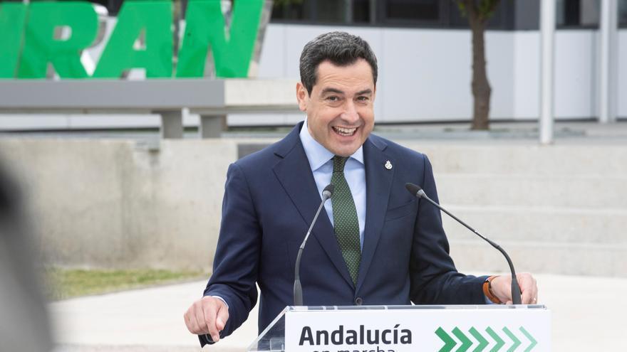El presidente de la Junta y del PP-A, Juan Manuel Moreno. EFE/Miguel Ángel Molina