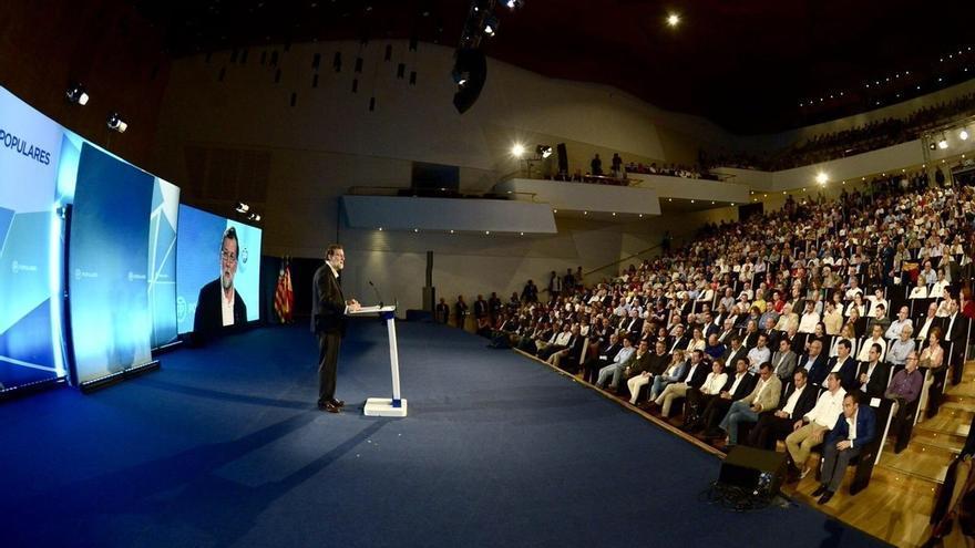 Mariano Rajoy durant l'acte que ha protagonitzat a Alacant