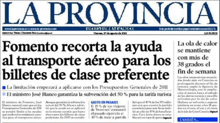De las portadas del día (27/10/2010) #5