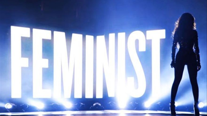 Cartel a favor del feminismo, concierto de Beyoncé.