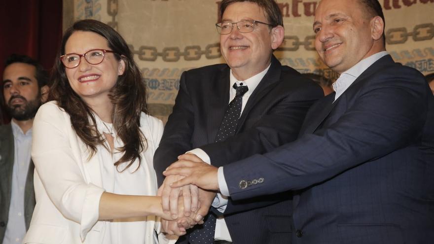"""Puig avanza que la composición del gobierno valenciano se sabrá """"al final de la tarde"""" o """"durante la noche"""""""