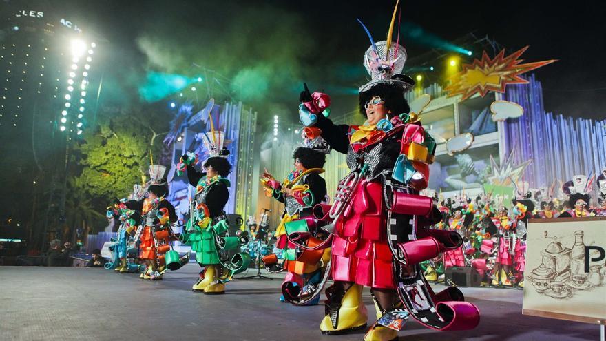 Murga en el Carnaval de Las Palmas de Gran Canaria.