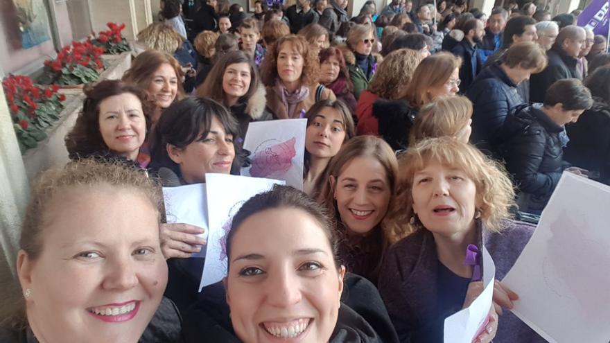 Periodistas en la concentración de Ciudad Real FOTO: Gema Molina Flores