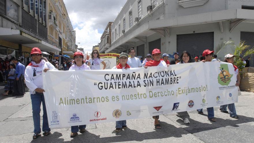 "Campaña ""Guatemala sin hambre"", de la que parte la histórica demanda. Foto: Leo Liberman / Action Aid"