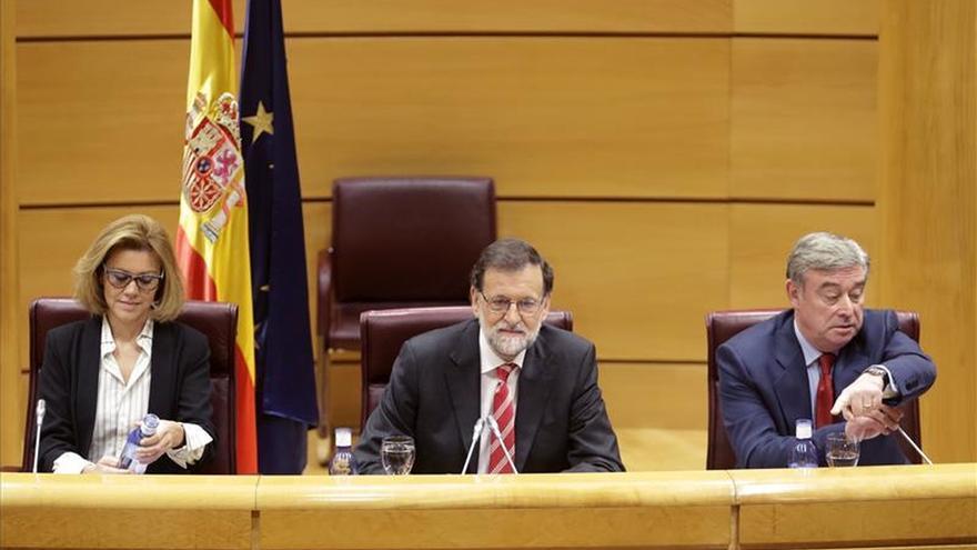 Rajoy reprocha a Sánchez no defender la unidad ni rechazar la autodeterminación