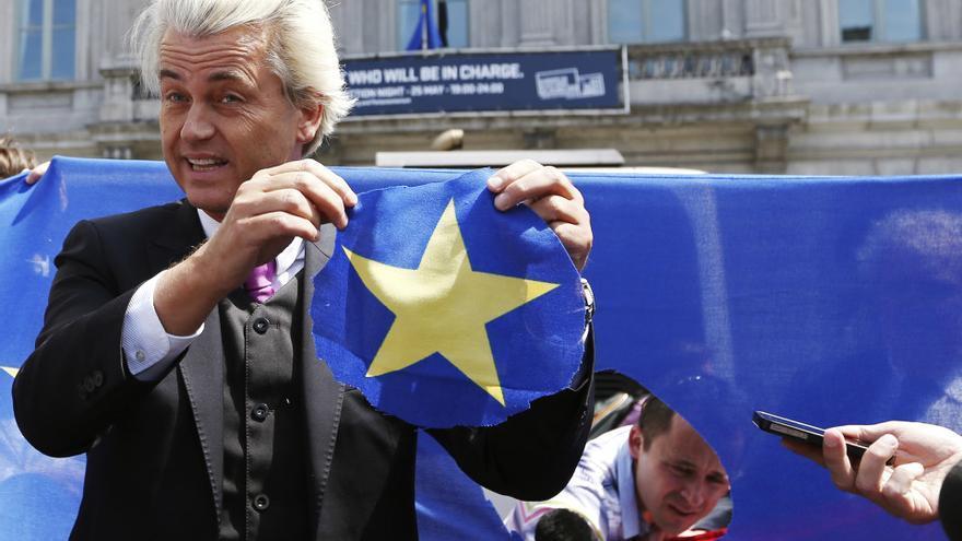 Geert Wilders, eurodiputado y Presidente del Partido por la Libertad, durante un acto de campaña en las pasadas elecciones europeas