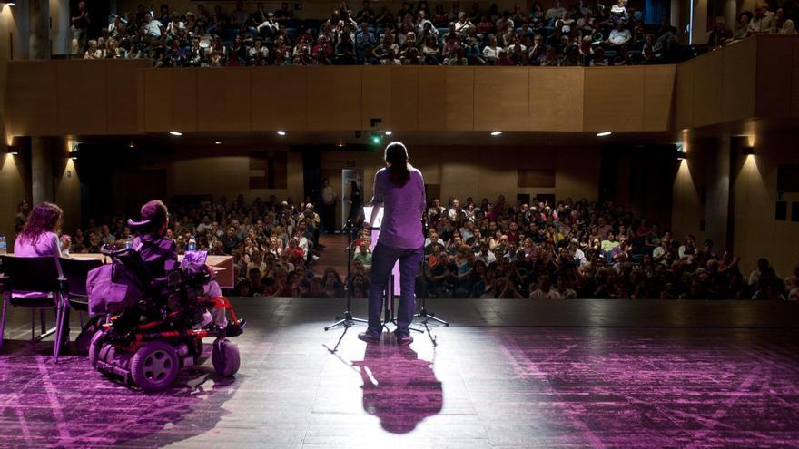 Pablo Iglesias en un acto de Podemos en Leganés / Foto: Podemos