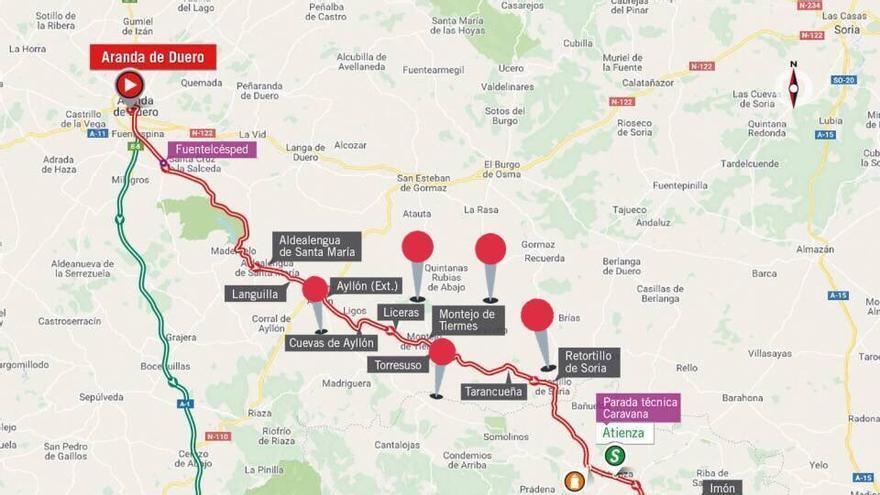 Recorrido de la etapa número 17 de la Vuelta Ciclista a España.