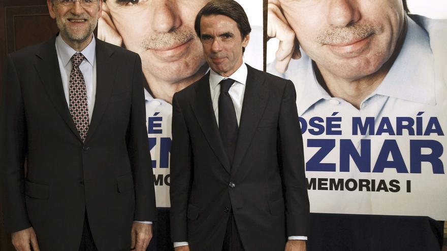 Rajoy asiste hoy a la presentación del libro de memorias de Aznar