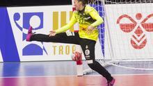 Silvia Navarro, portera del Rocasa y de la selección española de balonmano.