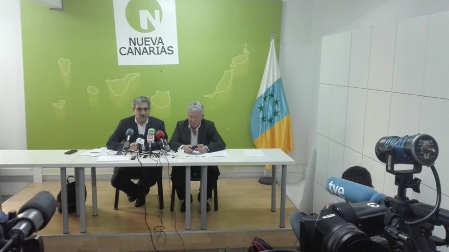 Román Rodríguez y Pedro Quevedo en rueda de prensa.