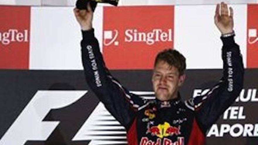 Vettel celebra su segunda victoria de la temporada. (EP)
