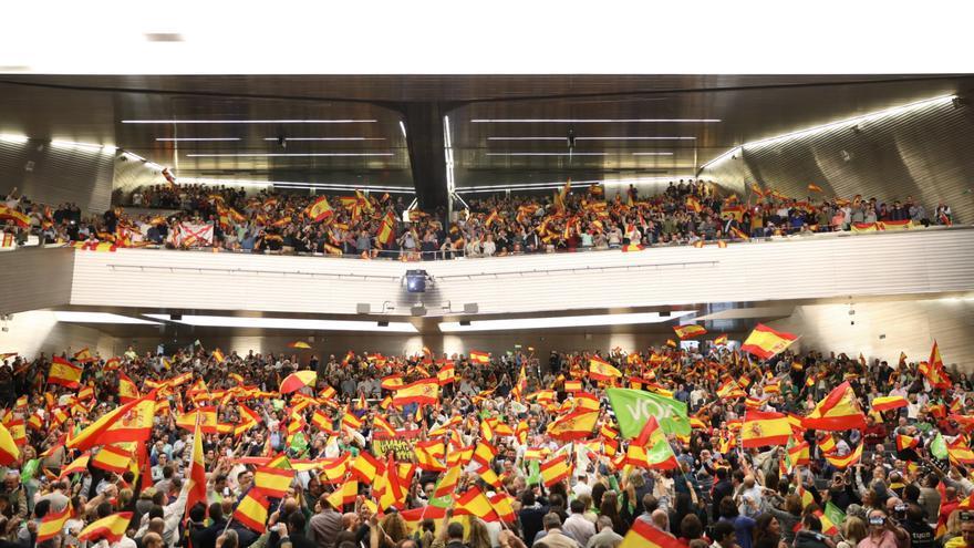 Acto público en Sevilla del candidato de Vox a la Presidencia del Gobierno, Santiago Abascal