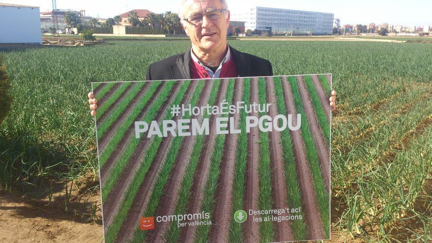 Joan Ribó en protesta contra el antiguo PGOU que impulsaba Barberá