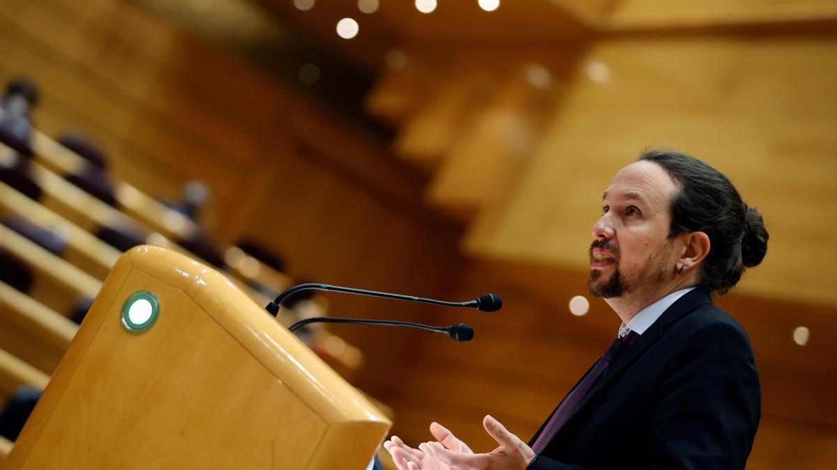 El vicepresidente segundo y líder de Podemos, Pablo Iglesias.