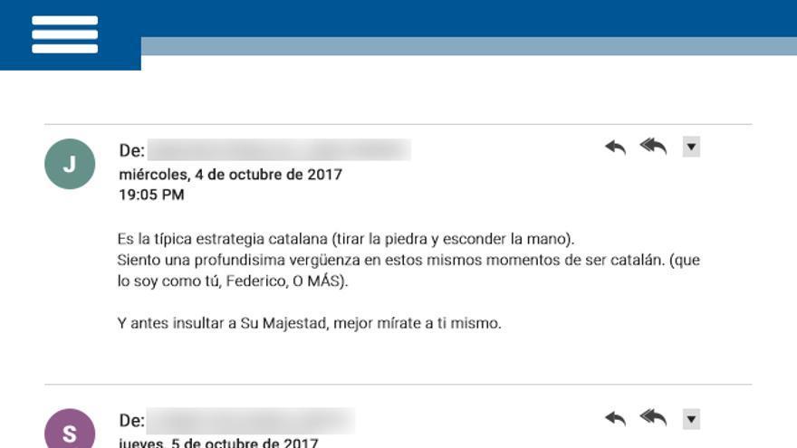 Respuestas al email de Vidal Grases.