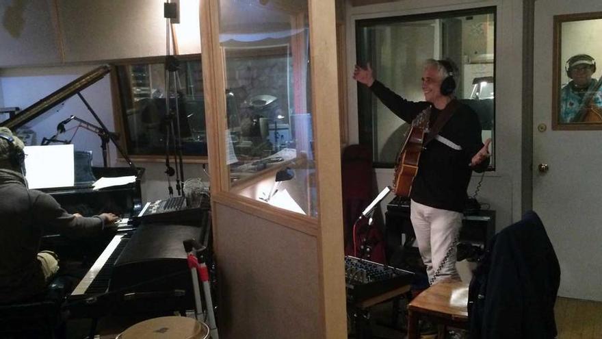 Ximo Tébar, en un estudio de grabación en Nueva York en enero de 2015.