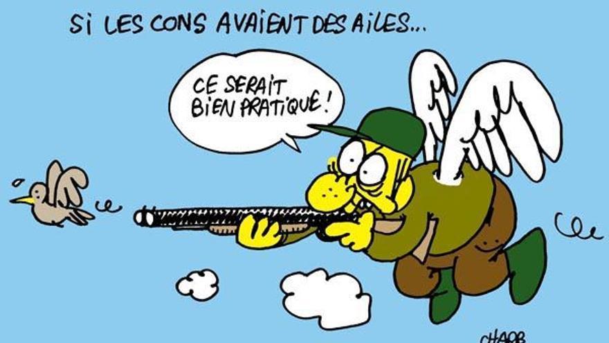 Viñeta contra la caza del dibujante Charb