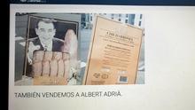 Pantallazo de la web de la empresa Sabores de Paterna donde anuncian que venden sus productos al chef Ferrán Adriá.