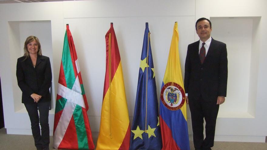 Amparo López, en un acto institucional durante su etapa en el Gobierno Vasco