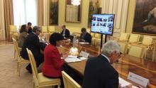 Reunión virtual entre el Ministerio de Educación y las Comunidades Autónomas este miércoles.