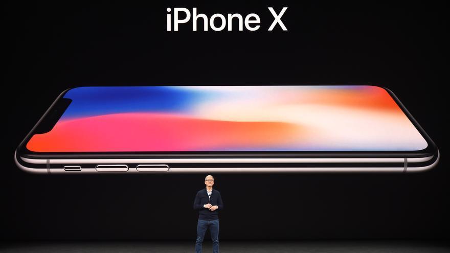 Tim Cook, director ejecutivo de Apple, durante la presentación del iPhone X