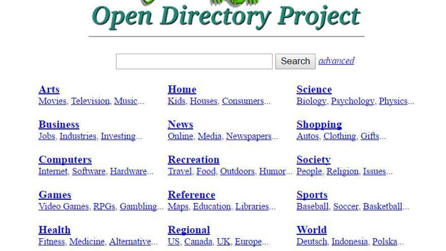 El Open Directory Project pretendía ser el mayor directorio para organizar las webs