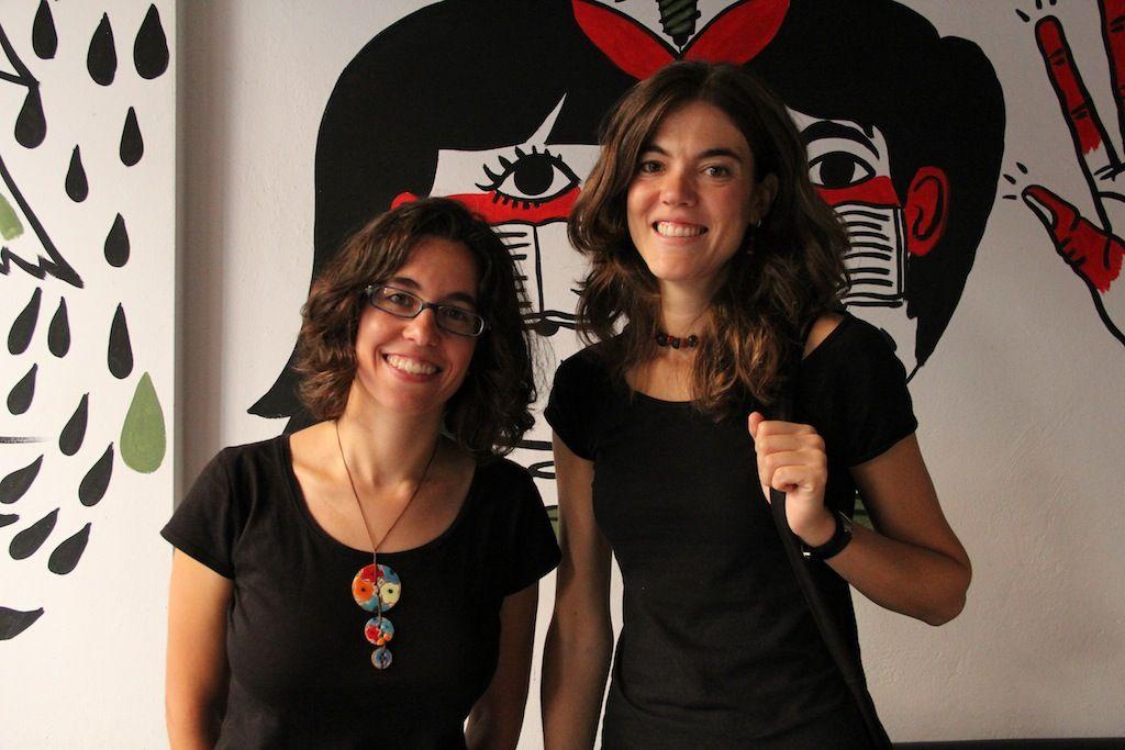 Nuria y Laura (Rojo Menta), responsables de 'Rebrota Malasaña'
