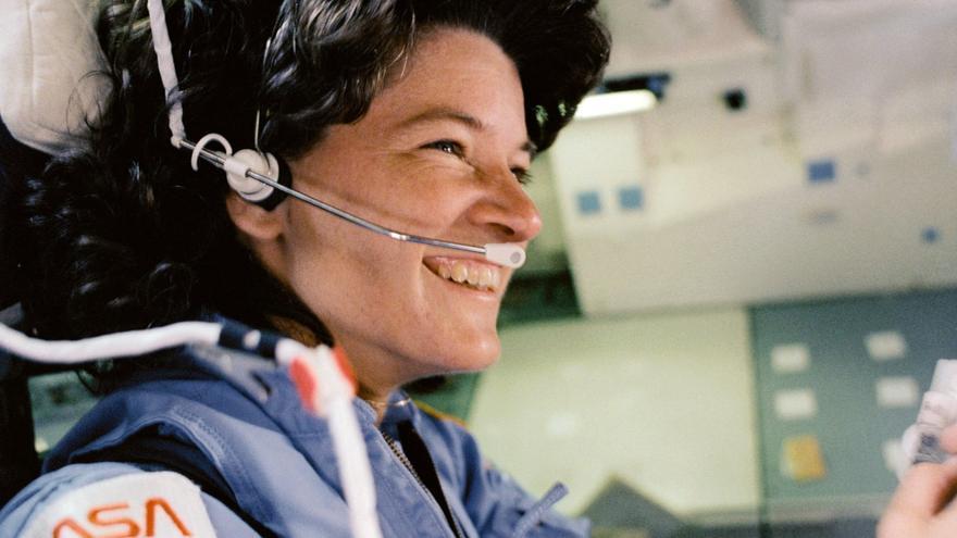 """El ciclo de conferencias abre hablando sobre """"Astronautas, una historia de mujeres que llegaron muy lejos"""". En la imagen, Sally Ride,la primera mujer astronauta estadounidense."""