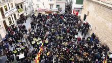 Protestas ante la visita a Andorra de la ministra para la Transición Ecológica, Teresa Ribera