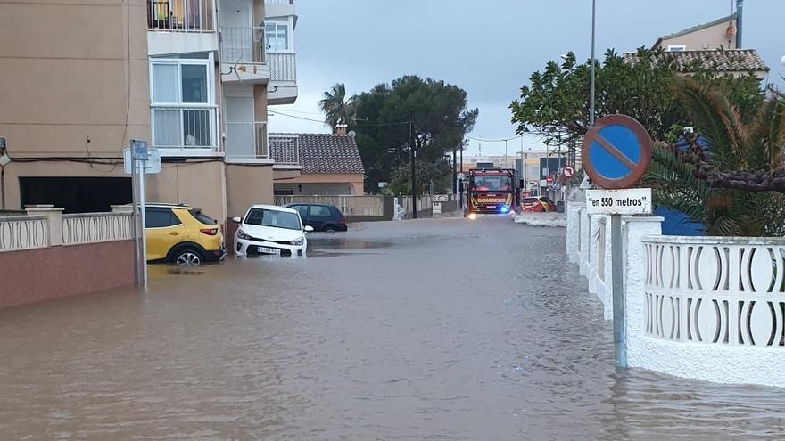 Imagen de la inundación en Almassora