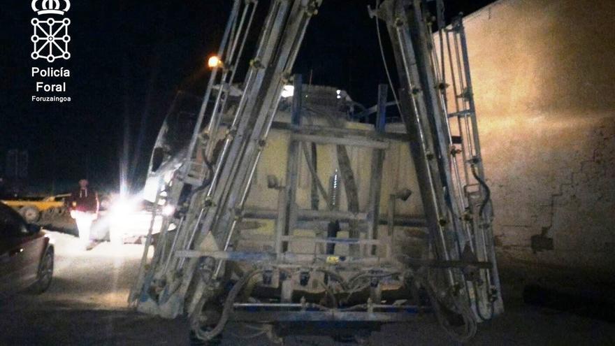 Imputado en Caparroso por conducir un tractor sin carné ni luces