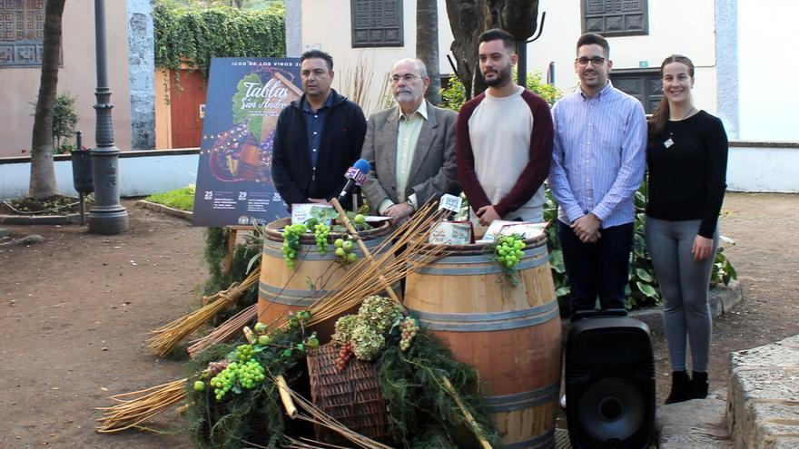 Momento de la presentación del programa festivo por San Andrés, en Icod de los Vinos