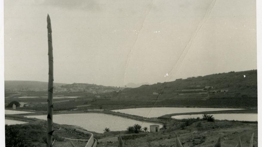Imagen de archivo de Las Carcas de San Lorenzo llenas de agua.