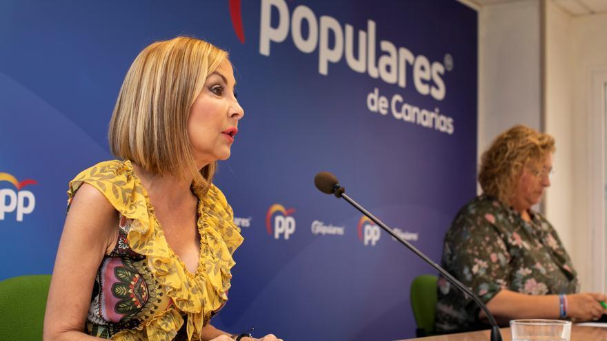 La presidenta del PP de Canarias, Australia Navarro, participa en la reunión del Comité de Dirección del partido en la comunidad autónoma.