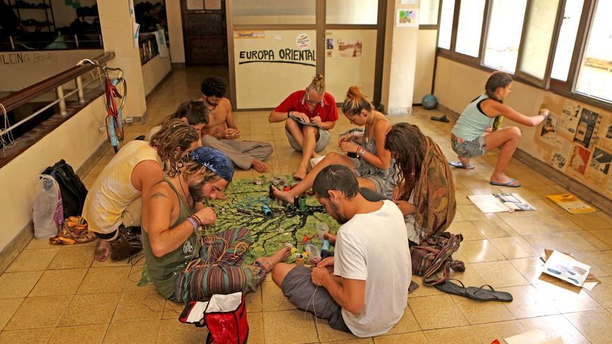 Artistas en el Centro Social La Bicicleta (ALEJANDRO RAMOS)